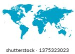 world map  hexagon pattern | Shutterstock .eps vector #1375323023