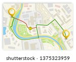 city map navigation banner ...   Shutterstock .eps vector #1375323959