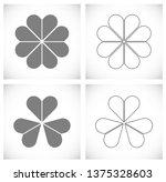 clover leaf icon   Shutterstock .eps vector #1375328603