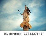 Athena Statue In Athens  Greece....
