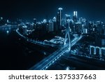 aerial view of bridge and city... | Shutterstock . vector #1375337663