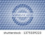 sophisticated blue badge with...   Shutterstock .eps vector #1375339223