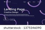 website landing page line ... | Shutterstock .eps vector #1375346090