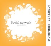 social network background with... | Shutterstock .eps vector #137535104