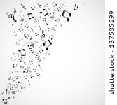 abstract musical background ... | Shutterstock .eps vector #137535299