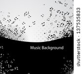 abstract music background with...   Shutterstock .eps vector #137535833