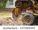 A Stump Grinding  Machine...