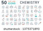 set of line icons of chemistry... | Shutterstock . vector #1375371893