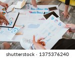 brainstorming session. creative ... | Shutterstock . vector #1375376240