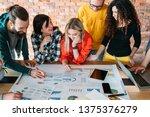 millennials in corporate... | Shutterstock . vector #1375376279
