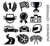 vector black auto and symbols... | Shutterstock .eps vector #137540330