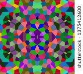 abstract kaleidoscope background | Shutterstock . vector #1375412600
