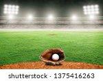 baseball glove on field at...   Shutterstock . vector #1375416263