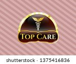 gold badge with caduceus... | Shutterstock .eps vector #1375416836