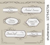 set of vintage vector labels ... | Shutterstock .eps vector #137542736