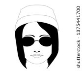 hipster girl avatar with a... | Shutterstock .eps vector #1375441700