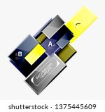 abstract square composition for ... | Shutterstock .eps vector #1375445609