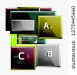 abstract square composition for ... | Shutterstock .eps vector #1375445660