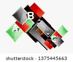 abstract square composition for ... | Shutterstock .eps vector #1375445663