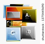 abstract square composition for ... | Shutterstock .eps vector #1375445690