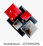 abstract square composition for ... | Shutterstock .eps vector #1375445696