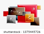 minimal square banner abstract... | Shutterstock .eps vector #1375445726