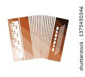 accordion icon. flat color...