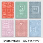 sale banners  flyers with... | Shutterstock .eps vector #1375454999