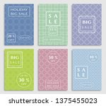 sale banners  flyers with... | Shutterstock .eps vector #1375455023