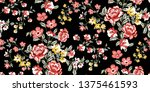 seamless floral pattern in... | Shutterstock .eps vector #1375461593