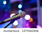 close up  of microphone on a... | Shutterstock . vector #1375462406