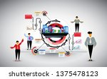 abstract infographics template. ... | Shutterstock .eps vector #1375478123