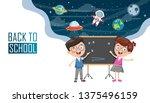 vector illustration of children ... | Shutterstock .eps vector #1375496159