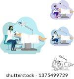 vector illustration of female... | Shutterstock .eps vector #1375499729