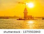 maiden's tower in istanbul ... | Shutterstock . vector #1375502843