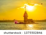 maiden's tower in istanbul ... | Shutterstock . vector #1375502846