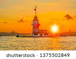 maiden's tower in istanbul ... | Shutterstock . vector #1375502849