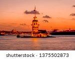 maiden's tower in istanbul ... | Shutterstock . vector #1375502873