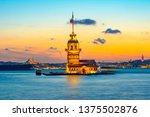 maiden's tower in istanbul ... | Shutterstock . vector #1375502876