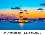 maiden's tower in istanbul ... | Shutterstock . vector #1375502879