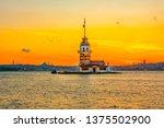 maiden's tower in istanbul ... | Shutterstock . vector #1375502900