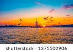 maiden's tower in istanbul ... | Shutterstock . vector #1375502906