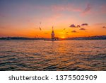maiden's tower in istanbul ... | Shutterstock . vector #1375502909