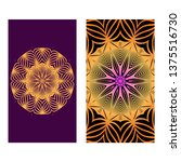 colorful henna mandala design ... | Shutterstock .eps vector #1375516730