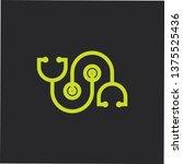 linked stethoscope medical logo ... | Shutterstock .eps vector #1375525436