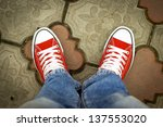 sneakers and jeans | Shutterstock . vector #137553020