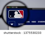 Small photo of Miami / USA - 04.20.2019: Major League Baseball website homepage. Close up of MLB logo. Can be used as illustrative for news media or other websites, good for info or marketing concept.