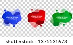 set of liquid label template... | Shutterstock .eps vector #1375531673
