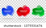 set of liquid label template... | Shutterstock .eps vector #1375531676