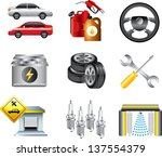 car service and filling station ... | Shutterstock .eps vector #137554379